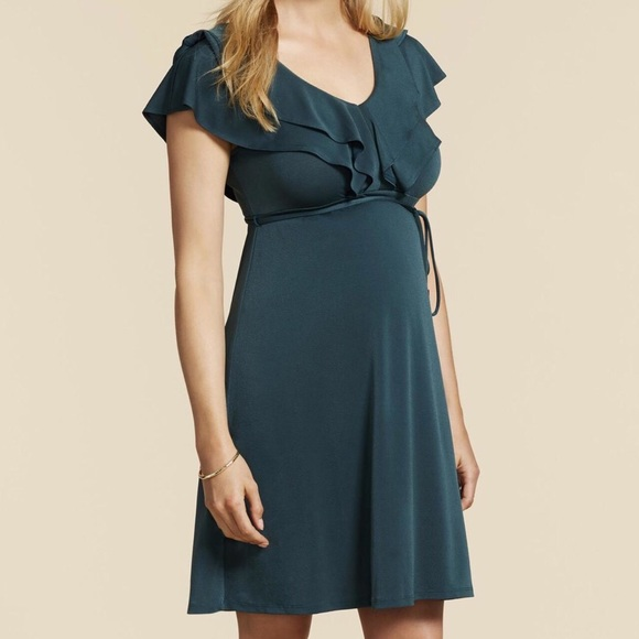 c62ba4d15ad Jessica Simpson Dresses   Skirts - Jessica Simpson Green Maternity Dress